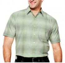 men's tall green button up shirt