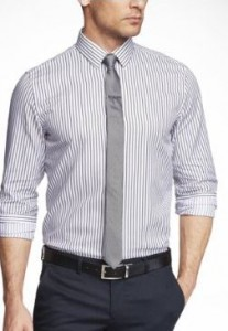 modern fit men's tall striped shirt