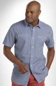 nautical plaid big and tall shirt
