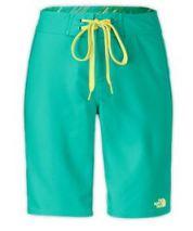 women's green board shorts