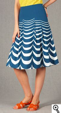 nautical tall skirt