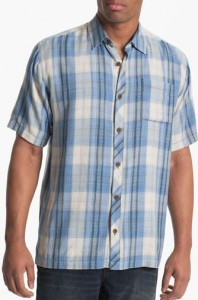 tommy bahama plaid tall shirt
