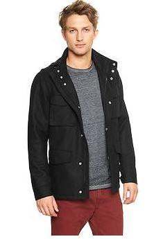 wool fatigue mens tall jacket