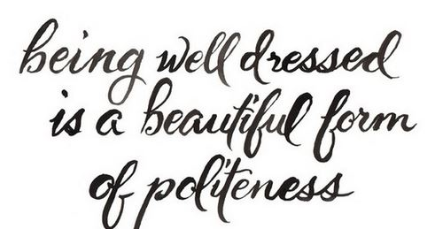 being well dressed