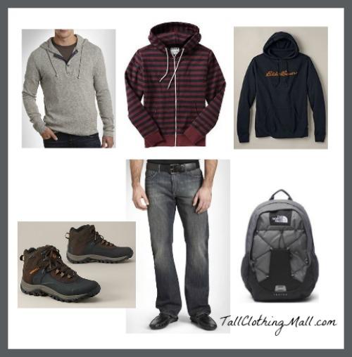 mens tall hoodies