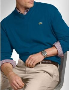 lacoste big and tall v-neck sweater