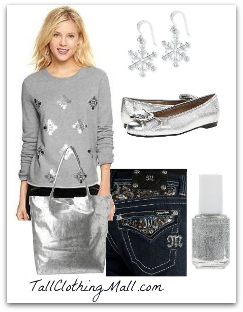 snowflake tall sweatshirt