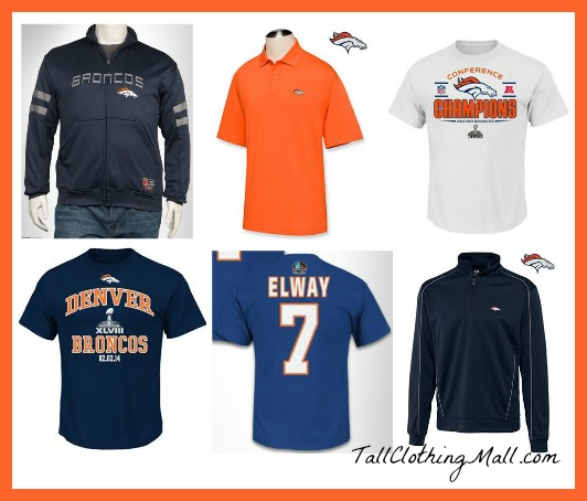 denver broncos big and tall clothing