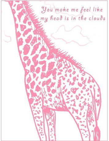 giraffe valentine's day cards