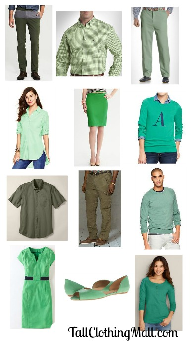 st patrck's day tall green clothes