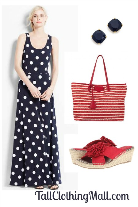 tall polka dot dress outfit