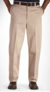 "men's 40"" inseam pants wrinkle-resistant"