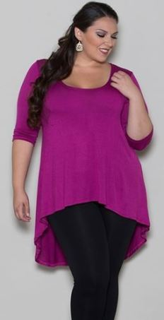 hi low plus size top