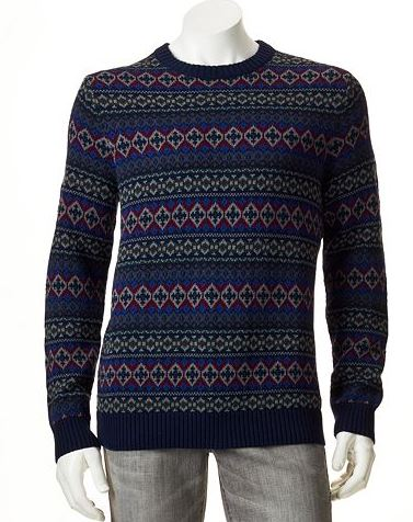 mens tall fair isle sweater