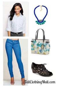blue tall skinny jeans