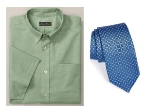 green tall dress shirt and tie