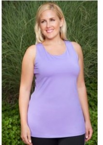 plus size long tank top