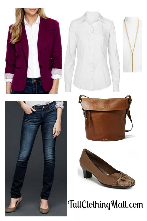 burgundy tall blazer