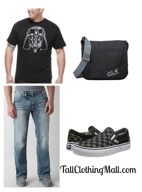 big and tall darth vadar t-shirt
