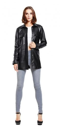 women's tall leather shirt