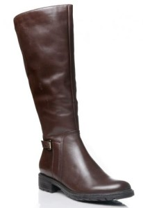 women's brown wide shaft boots