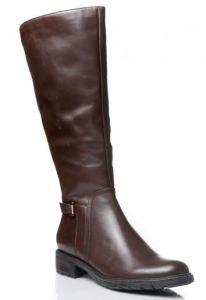 women's brown wide shaft boots