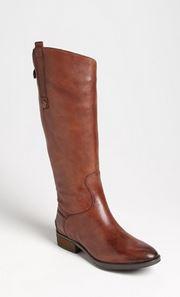 cognac wide calf boots