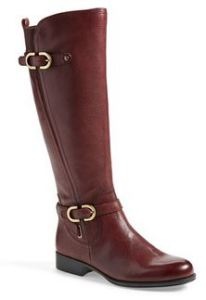burgundy tall boots