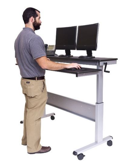 adjustable standing desk tall