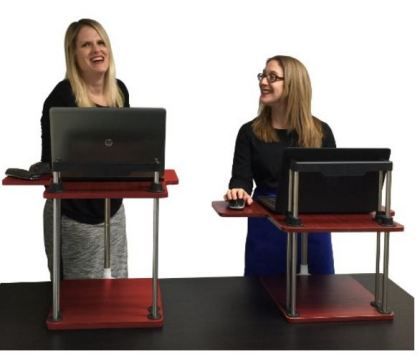turn your desk into a stand up desk