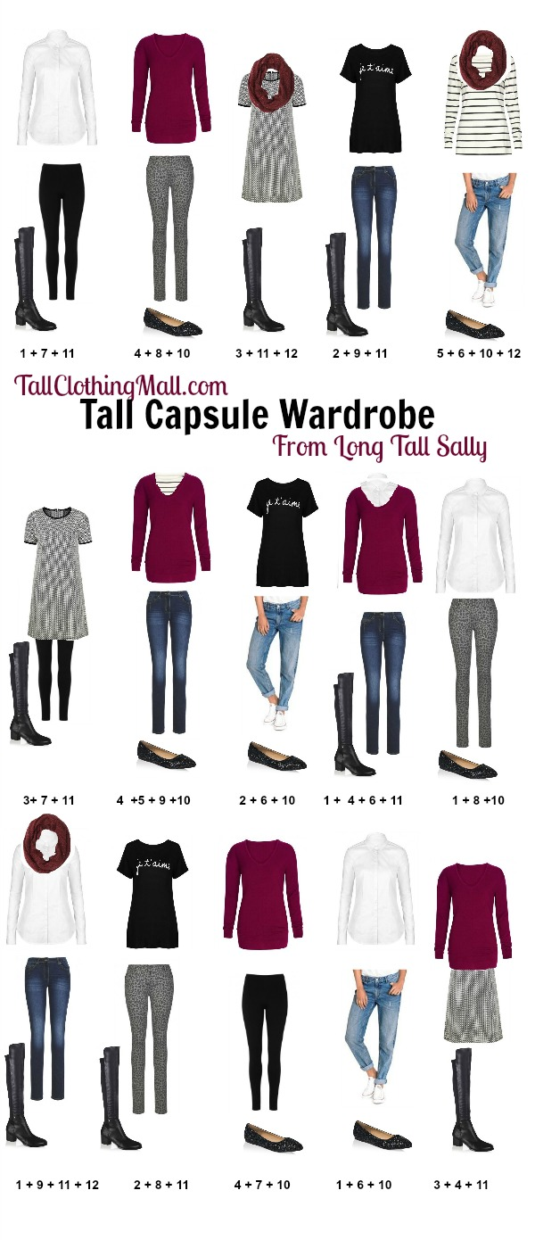 long tall sally tall capsule wardrobe