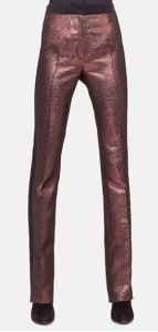 metallic tuxedo pants