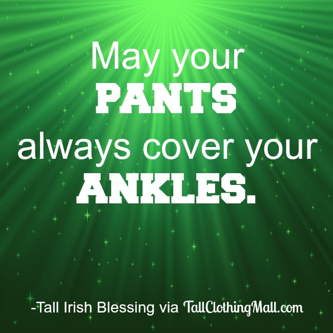 tall irish blessing