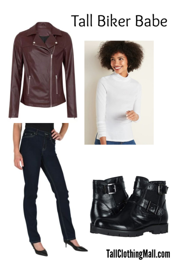 tall biker babe outfit