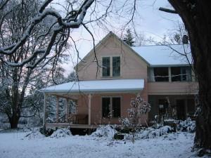 Snowy day at Tall Clover Farm