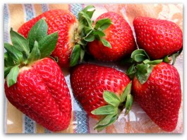 fresh strawberries in a clamshell
