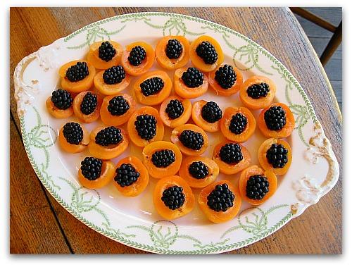 apricot appetizer on a platter