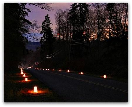 Christmas past lights the way to Christmas present luminaries
