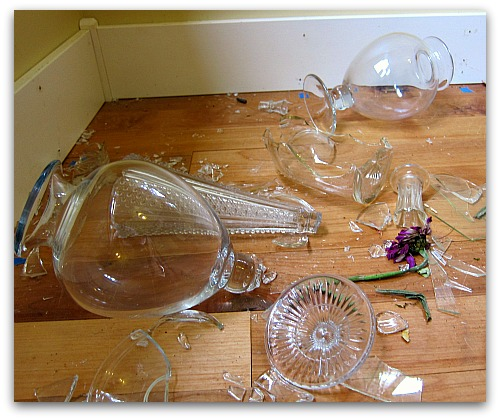 pedestal table shards glass