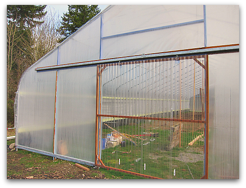 greenhouse high tunnel hoophouse sliding door