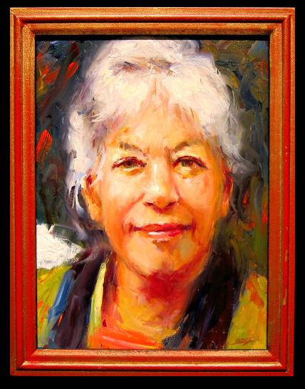 Pam Ingalls painting Karen