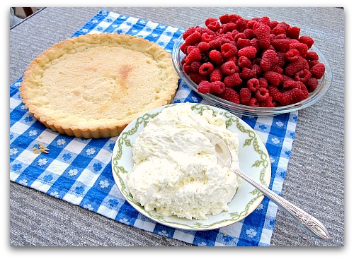 Easy sour cream berry tart