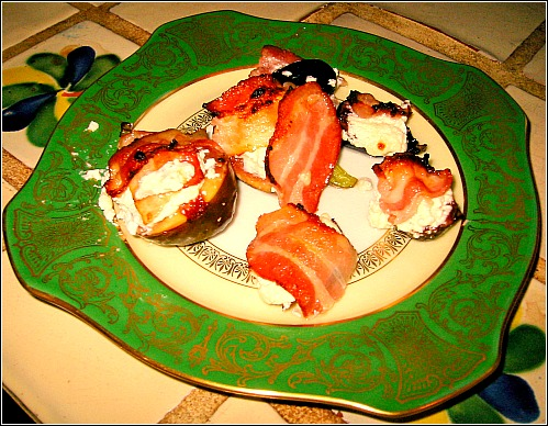 Favorite Savory Fig Recipe: Goat Cheese & Bacon & Figs, Oh My!