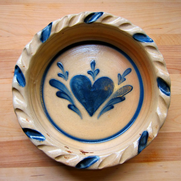 Pie Plate Shadowlawn Pottery Delavan Wisconsin