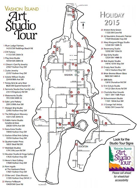 Vashon Island Art Studio Tour Map