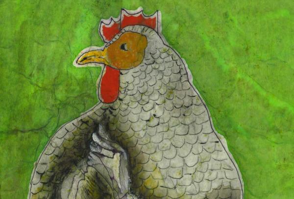 Happy Chicken Art