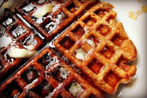 Apple Sesame Whole Wheat Waffles