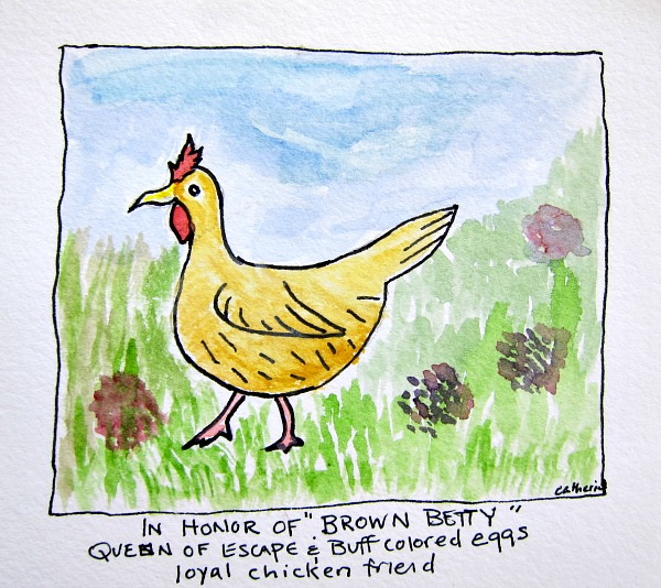 brown betty watercolors chicken