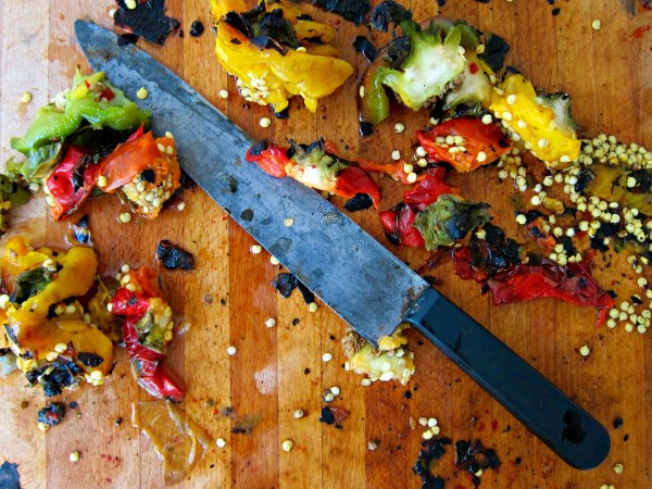 roasted pepper chopping board