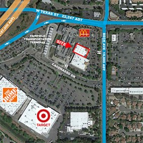 Tallen 649 Beck Avenue Fairfield, CA - map of area